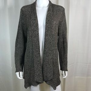 Eileen Fisher Linen Cardigan Sweater Brown Large